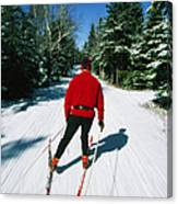 Cross-country Skiing, Lake Placid, New Canvas Print