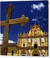 Cross Outside San Cristobal De Las Canvas Print
