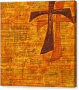Cross Purple With Yellow Canvas Print