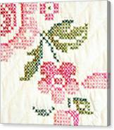 Cross Stitch Flower 1 Canvas Print