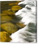 Crossing The Creek Canvas Print