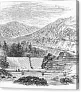 Croton Dam, 1860 Canvas Print
