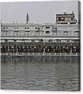 Crowd Of Devotees Inside The Golden Temple Canvas Print