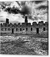Crown Point Barracks Black And White Canvas Print