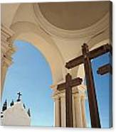 Crucifix At Basilica Of Our Lady Of Canvas Print