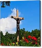 Crucifix In Indian River Canvas Print