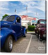 Cruise Night At The Diner Canvas Print