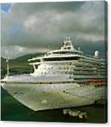 Cruise Ship In Port Canvas Print