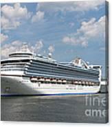 Cruise Ships At Cruiseport Boston Canvas Print