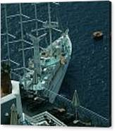 Cruiser In Santorini Island Canvas Print