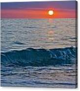 Crystal Blue Waters At Sunset In Treasure Island Florida 3 Canvas Print