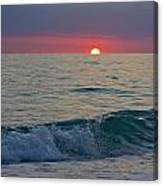Crystal Blue Waters At Sunset In Treasure Island Florida 5 Canvas Print