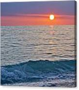 Crystal Blue Waters At Sunset In Treasure Island Florida Canvas Print