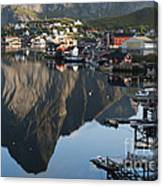 Crystal Waters At Reine Village Canvas Print