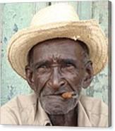 Cuba's Old Faces Canvas Print