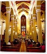 Cuenca Ecuador Church Interior Canvas Print