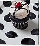 Cupcake With Cherry Canvas Print