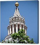 Cupola Atop St Peters Basilica Vatican City Italy Canvas Print