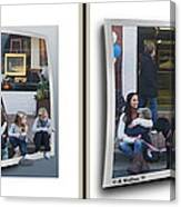 Curb Resting - Gently Cross Your Eyes And Focus On The Middle Image Canvas Print