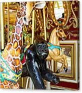 Curious Carousel Beasts Canvas Print