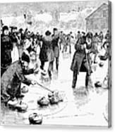 Curling, 1884 Canvas Print