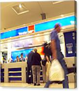 Currency Exchange At An Airport Canvas Print