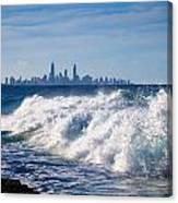Currumbin Beach Waves On Rocks Canvas Print
