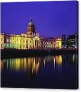 Custom House, Dublin, Co Dublin Canvas Print