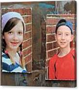 Custom Photo Portrait Group Canvas Print