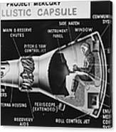 Cutaway Drawing Of The Project Mercury Canvas Print