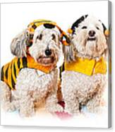 Cute Dogs In Halloween Costumes Canvas Print