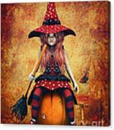 Cutest Little Witch Canvas Print