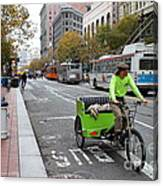 Cycle Rickshaw On Market Street In San Francisco Canvas Print