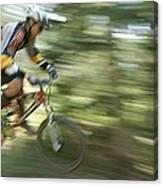 Cycling On Stoner Mesa, Colorado Canvas Print