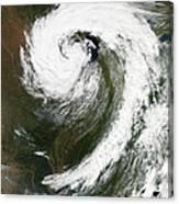 Cyclone Over Lake Michigan Canvas Print
