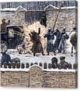 Czars Assassination, 1881 Canvas Print