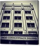 Dade Commonwealth Bldg. - Miami ( 1925 Canvas Print