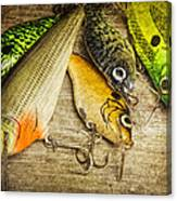 Dad's Fishing Crankbaits Canvas Print