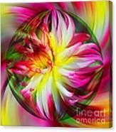 Dahlia Flower Energy Canvas Print