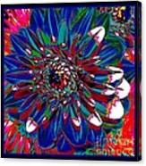 Dahlia With Intense Primaries Effect Canvas Print