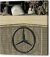 Daimler-benz A-g Hood Emblem Canvas Print