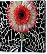 Daisy And Graphic Vase Canvas Print