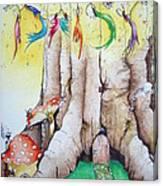 Daisy Fairy Illustration Canvas Print