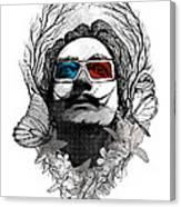 Dali In 3d Canvas Print