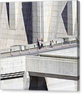 Dam Tourists Canvas Print