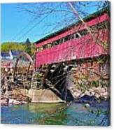 Damaged Covered Bridge Canvas Print