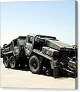 Damaged Mk48 Front Power Units Canvas Print