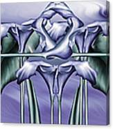 Dance Of The Blue Calla Lilies Iv Canvas Print
