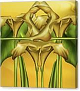 Dance Of The Yellow Calla Lilies II Canvas Print