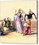 Dancing Girls At Cairo Canvas Print